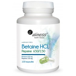 BETAINE HCL I PEPSYNA,  100kaps. ALINESS