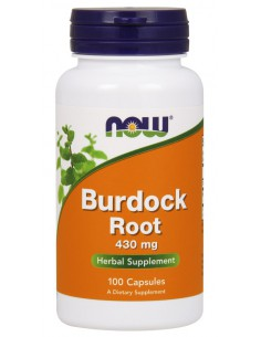 ŁOPIAN ( BURDOCK ROOT ), 430 MG, 100 kaps. NOW FOODS