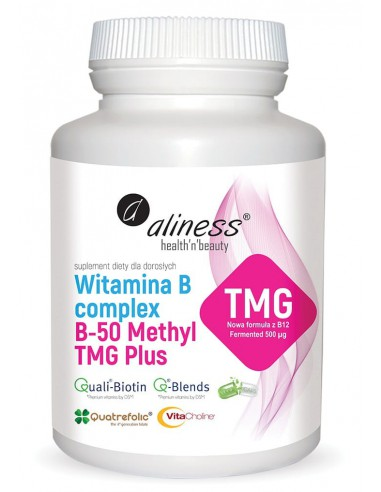 WITAMINA B COMPLEX B-50 Methyl TMG PLUS 100kaps. - ALINESS