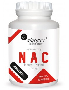 NAC N-ACETYL-L-CYSTEINE 500 mg x 100kaps. ALINESS