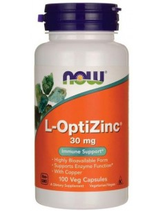 CYNK Z MIEDZIĄ ( OPTIZINC ) 30 mg, 100 kaps. - NOW FOODS